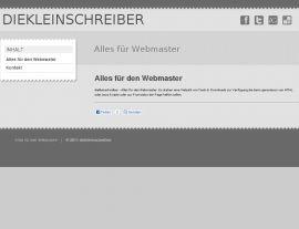 Foto von diekleinschreiber.de: Diese Webseite soll Webmastern den Alltag mit ihrer Homepage vereinfachen.
