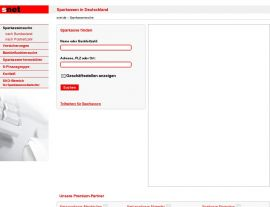 Foto von Sparkassen im Internet: snet.de - der schnelle Weg zu Ihrer Sparkasse