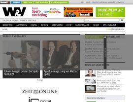 Foto von w&v - News zu Marketing, E-Business, Web & Internet Marketing, TV & Radio Werbung - Homepage